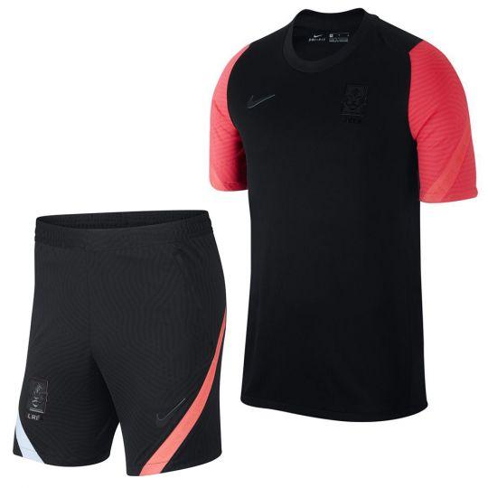Nike Zuid Korea Dry Strike Trainingsset 2020-2022 Zwart Rood