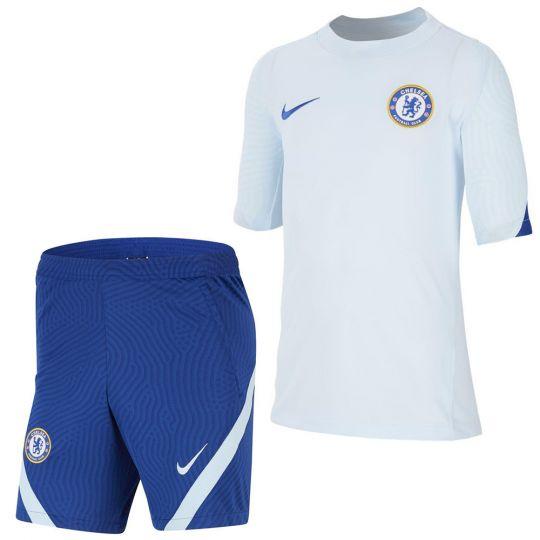 Nike Chelsea Dry Strike Trainingsset 2020-2021 Kids Cobalt Blauw