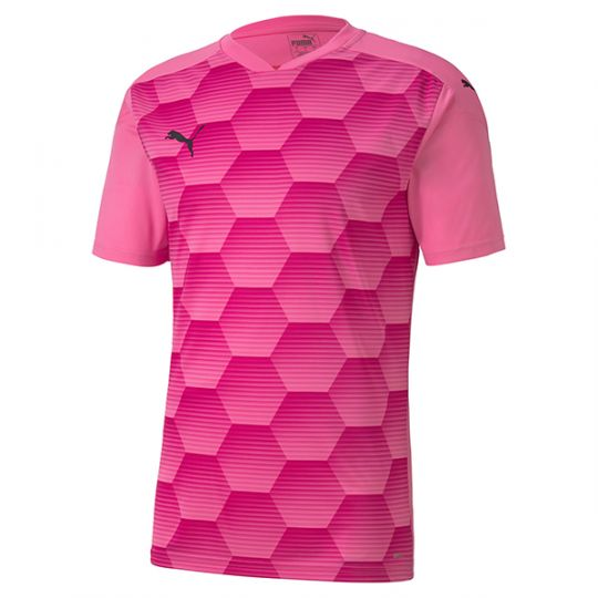 PUMA teamFINAL 21 Graphic Voetbalshirt Kids Roze
