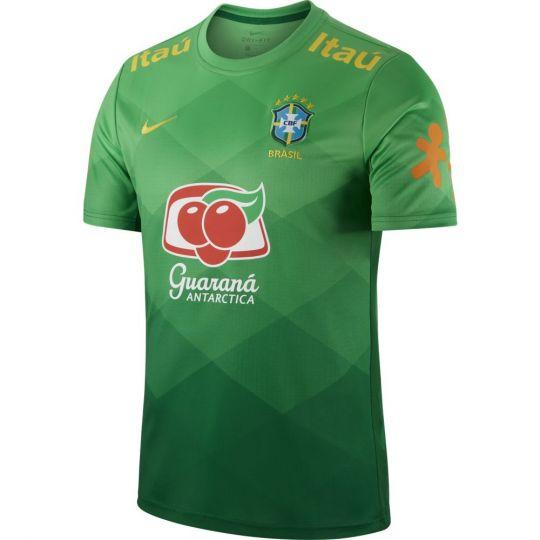 Nike Brazilie Breathe Trainingsshirt Pre Match 2020-2021 Groen
