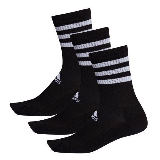 adidas 3S Crew Sportsokken Zwart Wit