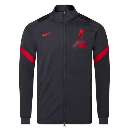 Nike Liverpool Dry Strike Trainingsjack 2020-2021 Grijs