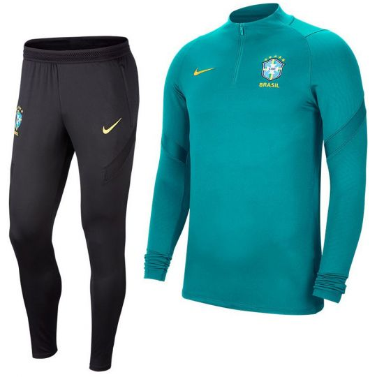 Nike Brazilie Dry Strike Trainingspak 2020-2021 Groen Geel