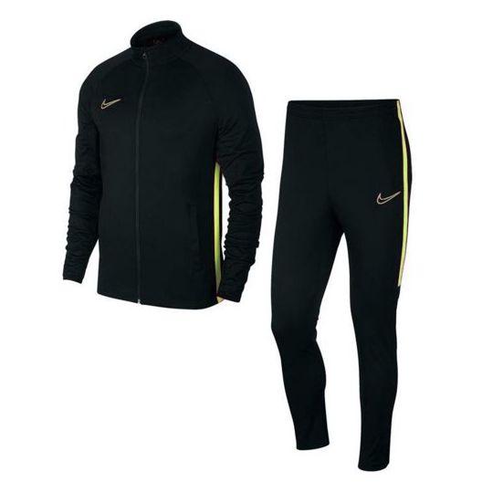 Nike Dry Academy FZ Trainingspak Kids Zwart Geel