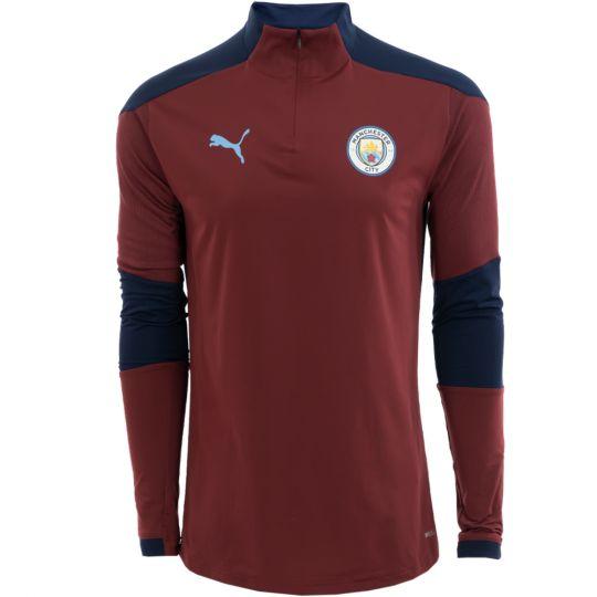 PUMA Manchester City 1/4 Zip Trainingstrui 2020-2021 Kids Donkerblauw
