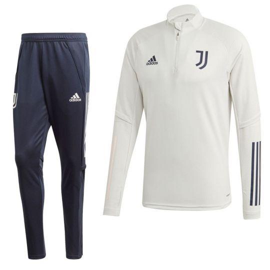 adidas Juventus Top Trainingspak 2020-2021 Lichtgrijs Donkerblauw