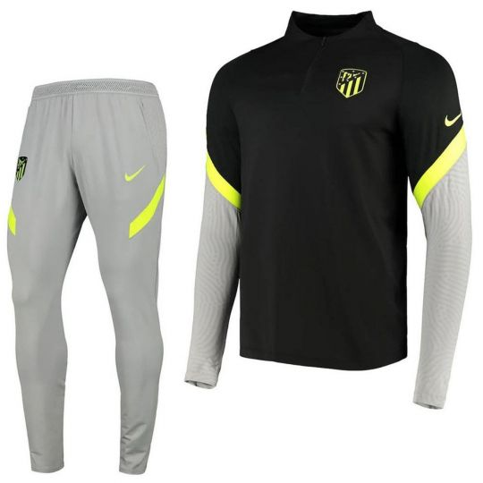 Nike Atletico Madrid Trainingspak CL 2020-2021 Kids Grijs Zwart