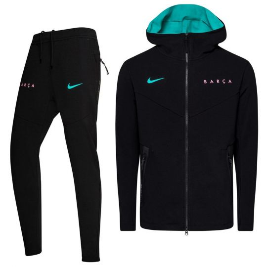 Nike FC Barcelona Tech Fleece Pack Trainingspak CL 2020-2021 Zwart