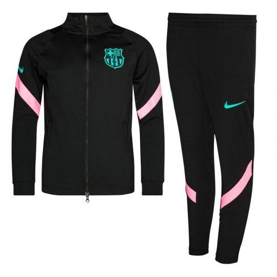 Nike FC Barcelona Dry Strike Trainingspak CL 2020-2021 Kids Zwart Roze