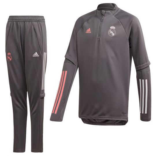 adidas Real Madrid Top Trainingspak 2020-2021 Kids Grijs