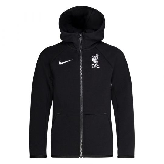 Nike Liverpool Tech Fleece FZ Hoodie 2020-2021 Kids Zwart