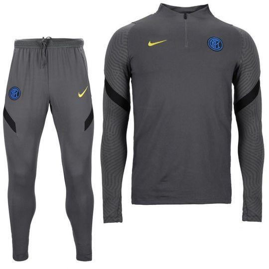 Nike Inter Milan Dry Strike Drill Trainingspak 2020-2021 Grijs