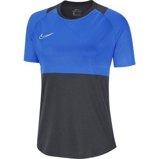 Nike Dry Academy Pro Trainingsshirt Dames Antraciet Blauw