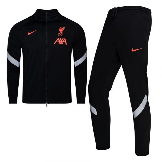 Nike Liverpool Strike Full-Zip Trainingspak CL 2020-2021 Kids Zwart