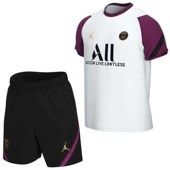 Nike Paris Saint Germain Trainingsset 2020-2021 Kids Wit Zwart Rood
