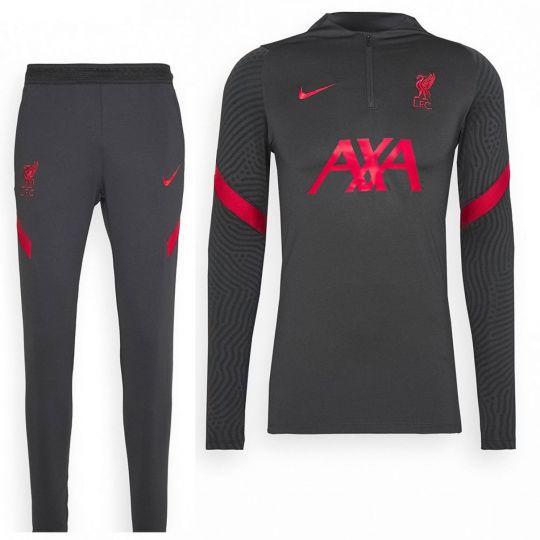 Nike Liverpool Dry Strike 1/4 Zip Trainingspak 2020-2021 Kids Antraciet