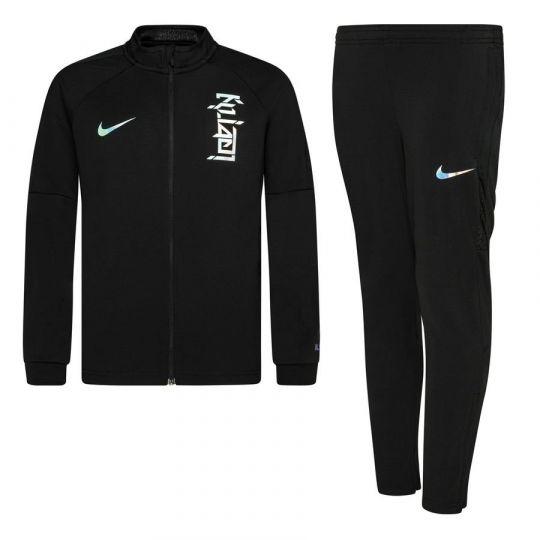 Nike Kylian Mbappe X LeBron Dri-FIT Trainingspak Kids Zwart