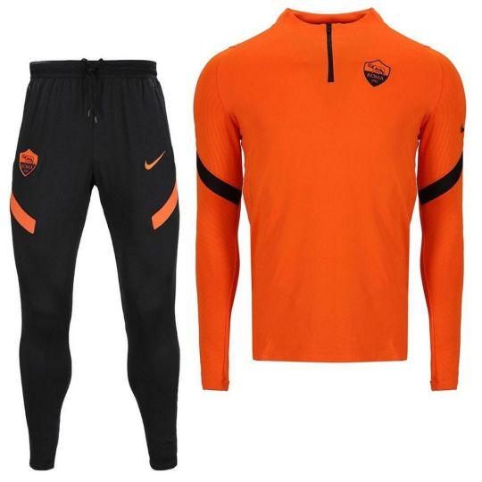 Nike AS Roma Dry Strike Drill Trainingspak 2020-2021 Oranje Zwart
