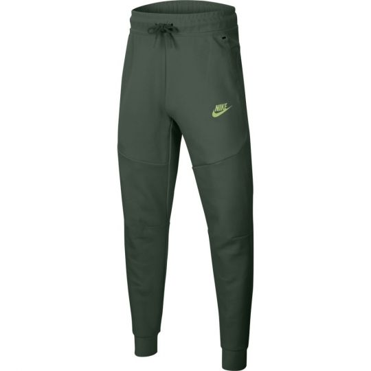 Nike Tech Fleece Jogger Trainingsbroek Kids Donkergroen Lime