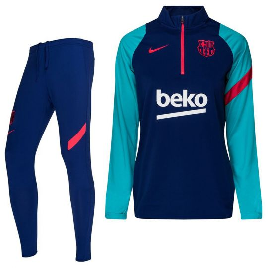 Nike FC Barcelona Academy Pro Drill Trainingspak 2021 Vrouwen Blauw Rood