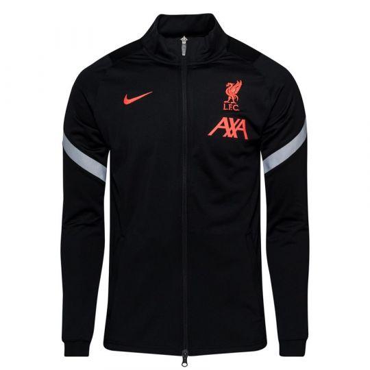 Nike Liverpool Dry Strike Trainingsjack CL 2020-2021 Zwart Grijs Rood