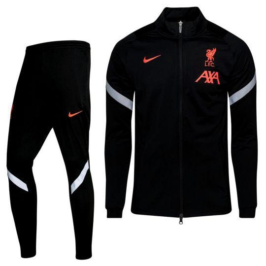 Nike Liverpool Strike Full-Zip Trainingspak CL 2020-2021 Zwart Grijs Rood