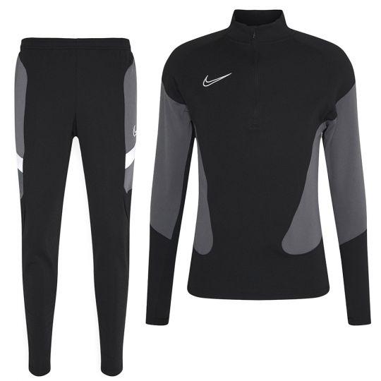 Nike Dri-FIT Academy Drill Trainingspak Zwart Grijs Wit