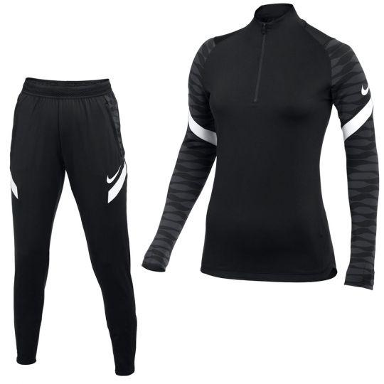 Nike Strike 21 Trainingspak Vrouwen Zwart Grijs Wit