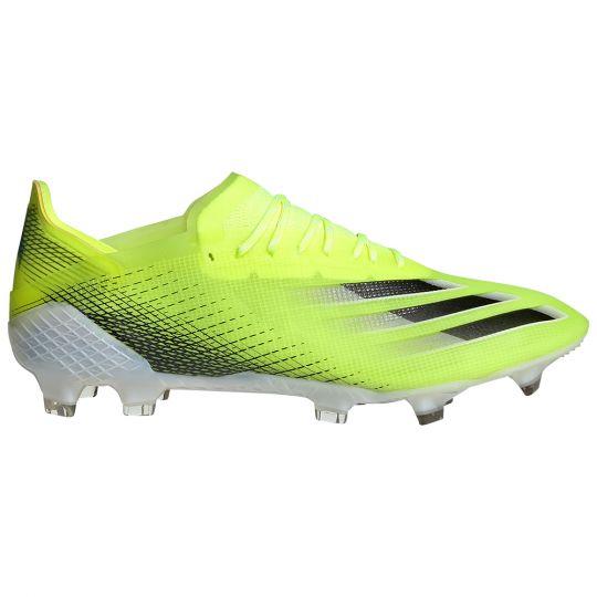 adidas X Ghosted.1 Gras Voetbalschoenen (FG) Geel Zwart Blauw