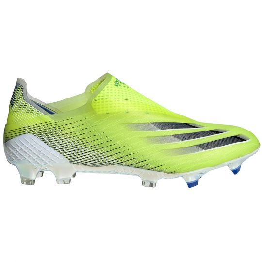 adidas X Ghosted+ Gras Voetbalschoenen (FG) Geel Zwart Blauw