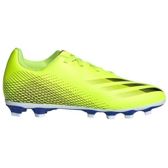 adidas X Ghosted.4 Gras / Kunstgras Voetbalschoenen (FxG) Kids Geel Zwart Blauw