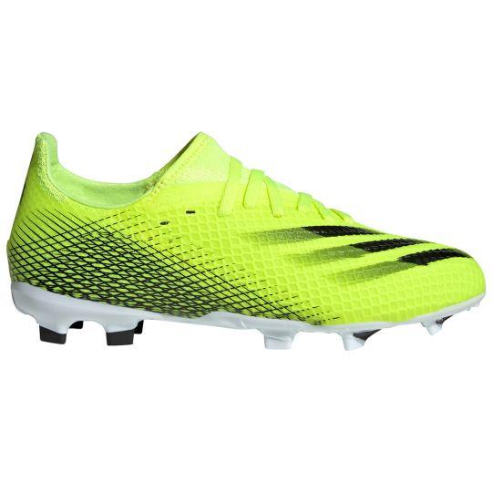 adidas X Ghosted.3 Gras Voetbalschoenen (FG) Kids Geel Zwart Blauw