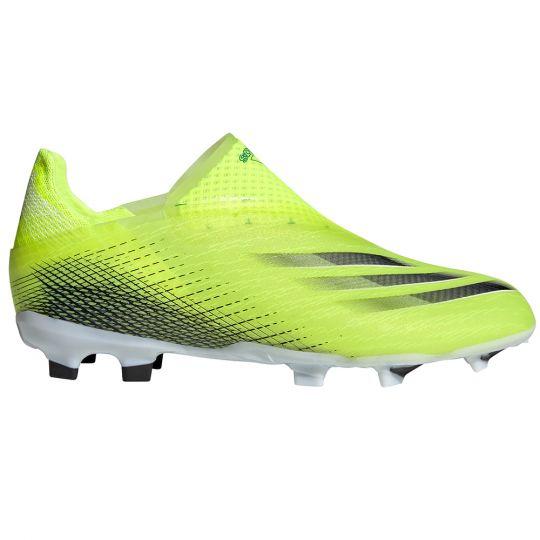 adidas X Ghosted+ Gras Voetbalschoenen (FG) Kids Geel Zwart Blauw