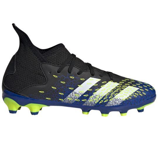 adidas Predator Freak.3 Gras / Kunstgras Voetbalschoenen (MG) Kids Zwart Wit Geel
