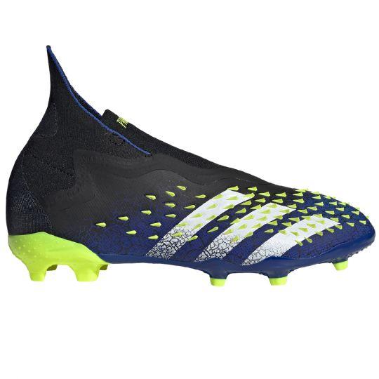 adidas Predator Freak+ Gras Voetbalschoenen (FG) Kids Zwart Wit Geel