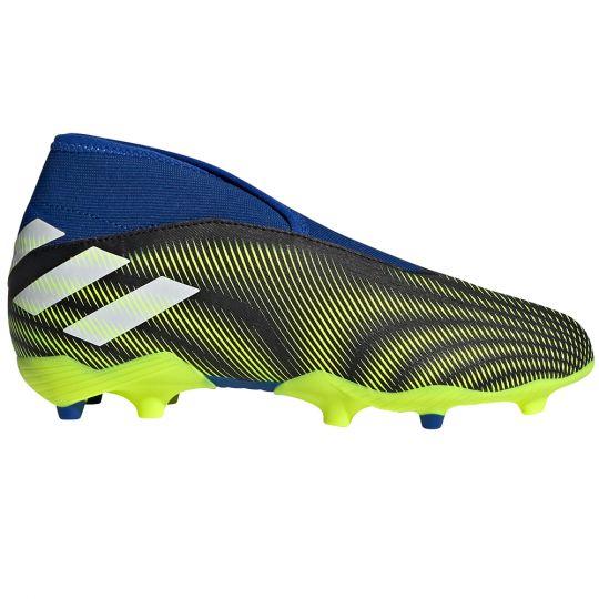 adidas Nemeziz.3 LL Gras Voetbalschoenen (FG) Kids Zwart Wit Geel