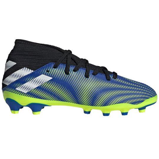 adidas Nemeziz.3 Gras / Kunstgras Voetbalschoenen (MG) Kids Blauw Wit Geel