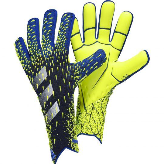adidas Predator Pro Keepershandschoenen Zwart Blauw Geel