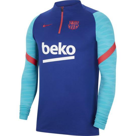 Nike FC Barcelona Strike Trainingstrui 2021 Blauw Rood