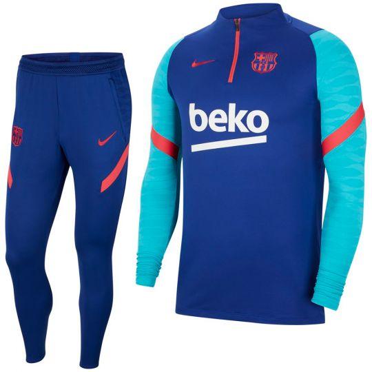 Nike FC Barcelona Strike Drill Trainingspak 2021 Blauw Rood