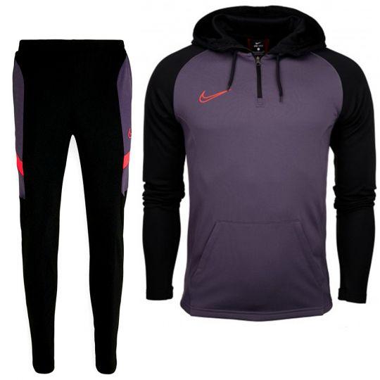 Nike Dry Academy Hoodie Trainingspak Zwart Paars