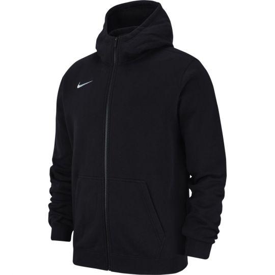 Nike Hoodie Full Zip Fleece Zwart Wit Kids
