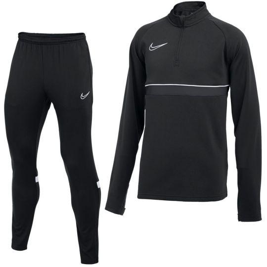 Nike Academy 21 Drill Trainingspak Kids Zwart Grijs Wit