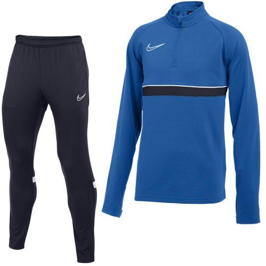 Nike Academy 21 Drill Trainingspak Kids Blauw Donkerblauw