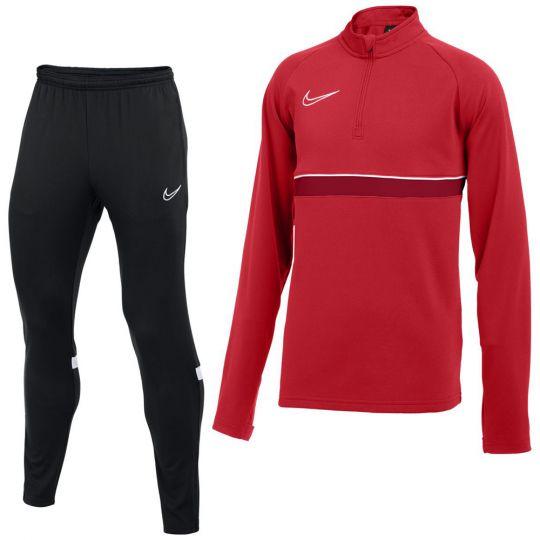 Nike Academy 21 Drill Trainingspak Rood Zwart