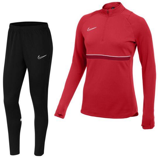 Nike Academy 21 Drill Trainingspak Vrouwen Rood Zwart