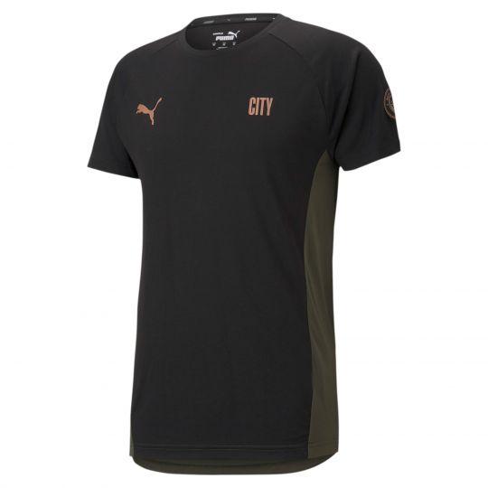 PUMA Manchester City Evostripe T-Shirt 2021 Zwart Groen