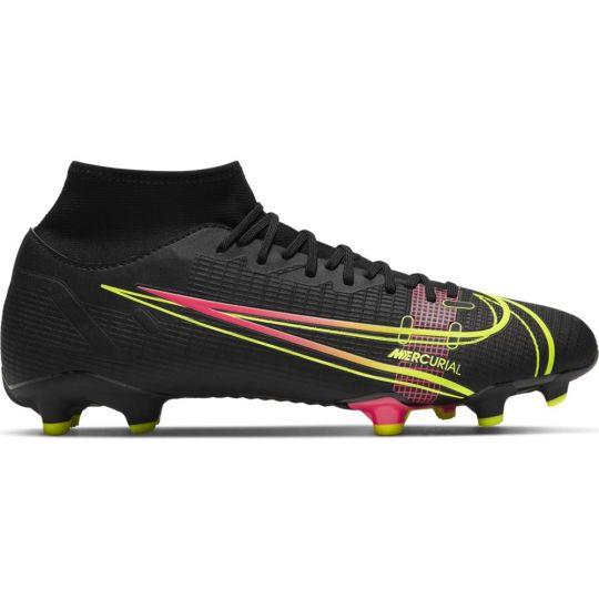 Nike Mercurial Superfly 8 Academy Gras / Kunstgras Voetbalschoenen (MG) Zwart Geel