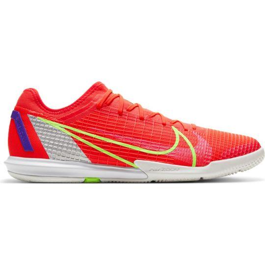 Nike Mercurial Vapor 14 Zoom Pro Zaalvoetbalschoenen (IC) Rood Zilver