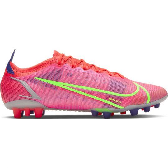 Nike Mercurial Vapor 14 Elite Kunstgras Voetbalschoenen (AG) Rood Zilver